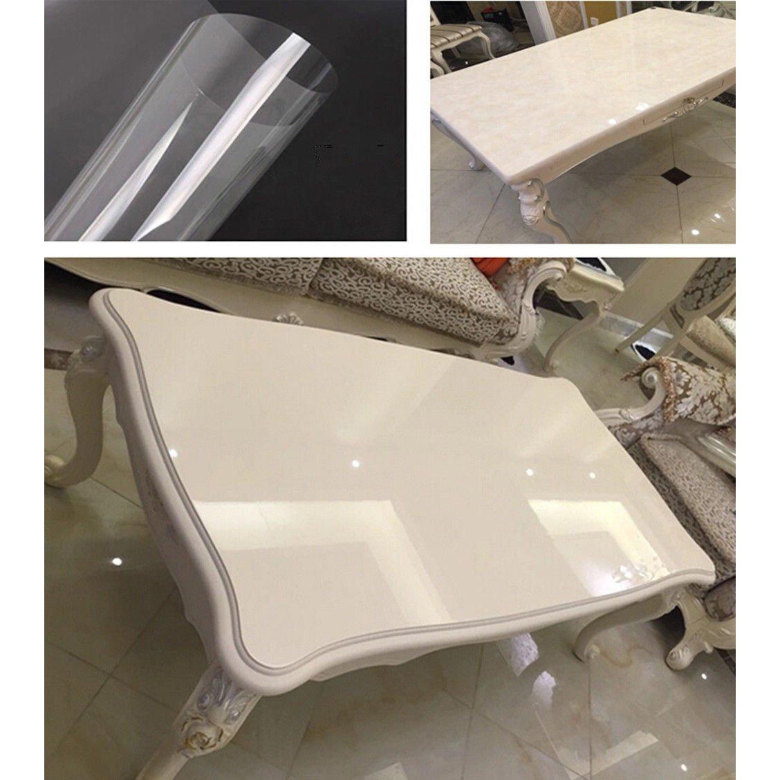 per casa Hoho Pellicola protettiva trasparente 2Mil decorazione anti-olio lucida protezione antigraffio per mobili cucina adesiva 152 x 50 cm