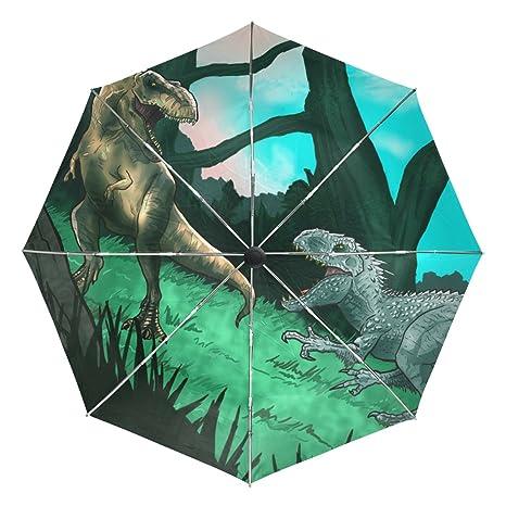 COOSUN Los dinosaurios antiguos automático 3 plegable del paraguas del parasol Color # 002