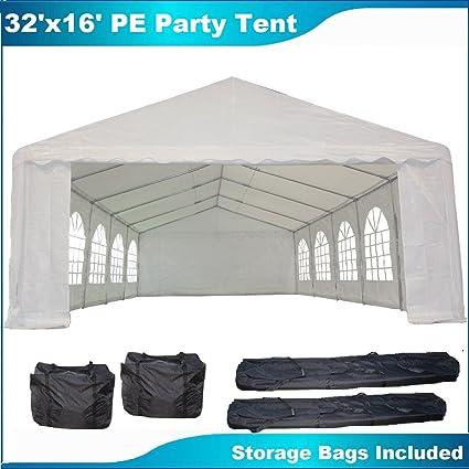 32u0027x16u0027 PE Party Tent White - Heavy Duty Wedding Canopy Carport Shelter - & Amazon.com : 32u0027x16u0027 PE Party Tent White - Heavy Duty Wedding ...