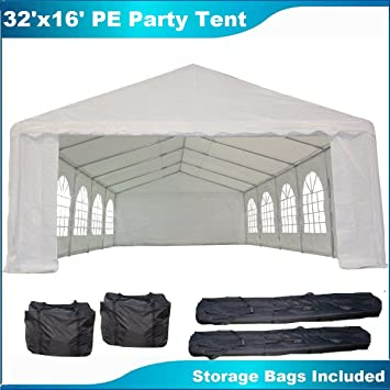 pe party tent white heavy duty wedding canopy carport shelter