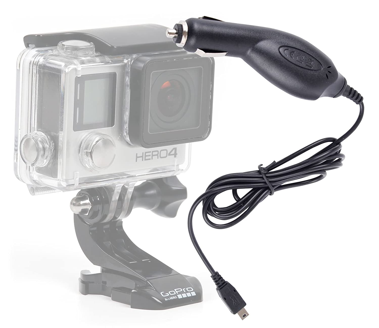 f72575df2be DURAGADGET Cargador Mechero Coche Para Cámara GoPro Hero 4/3+ / 3/2 / 1 ( Black, Silver and White Edition): Amazon.es: Electrónica