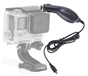 DURAGADGET Cargador Mechero Coche Para Cámara GoPro Hero 4/3+ / 3/2 / 1 (Black, Silver and White Edition): Amazon.es: Electrónica