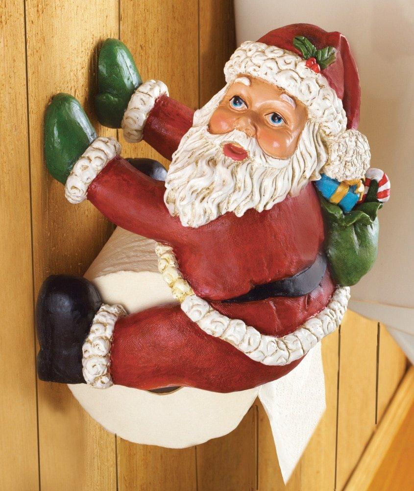 Santa Toilet Paper Holder for Christmas