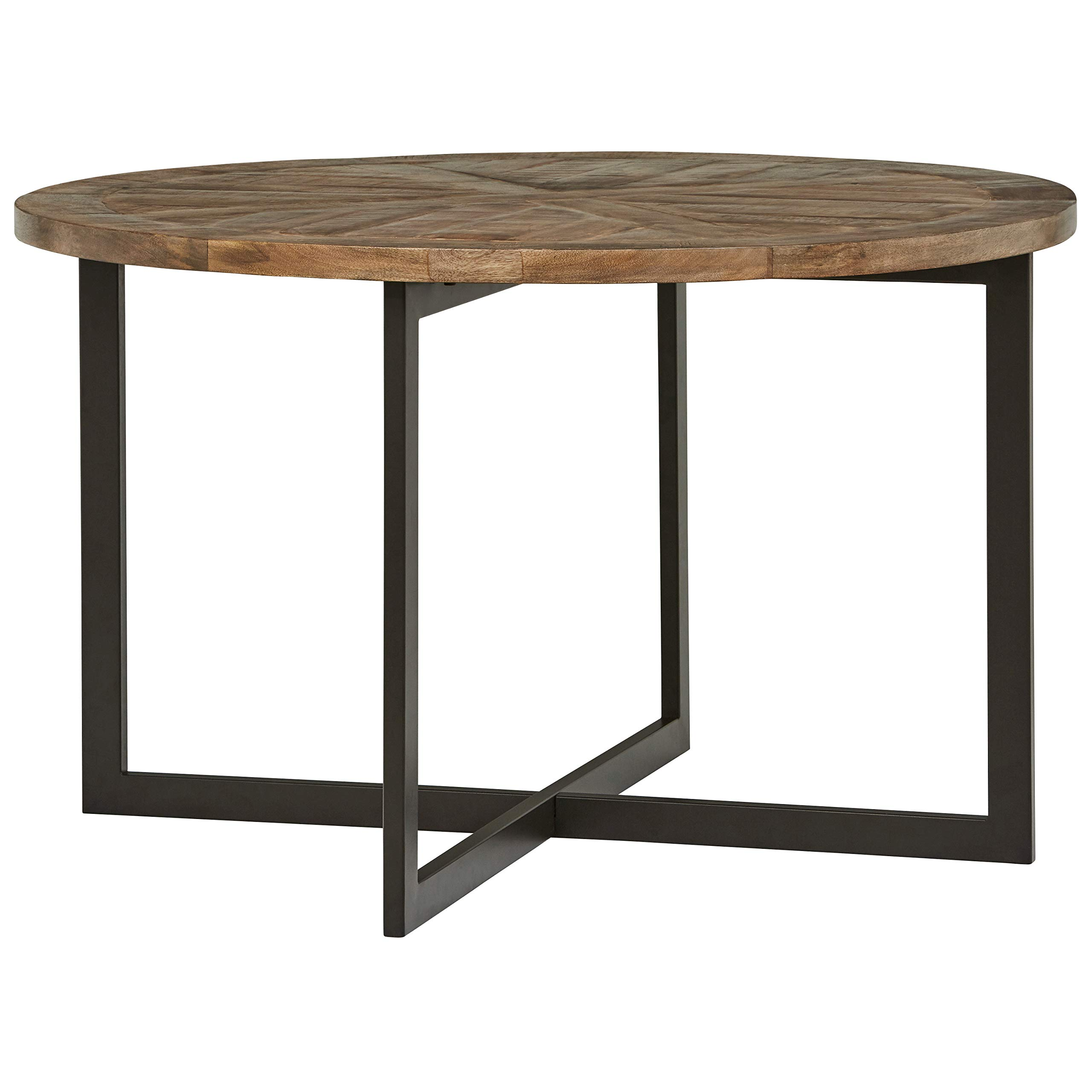Stone & Beam Industrial Dining Table 30''H, French Onyx and Gunmetal Finish