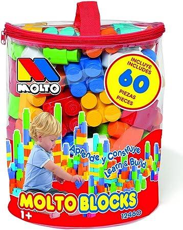 TALLA 60 piezas. M MOLTO Bolsa Blocks 60 pcs.