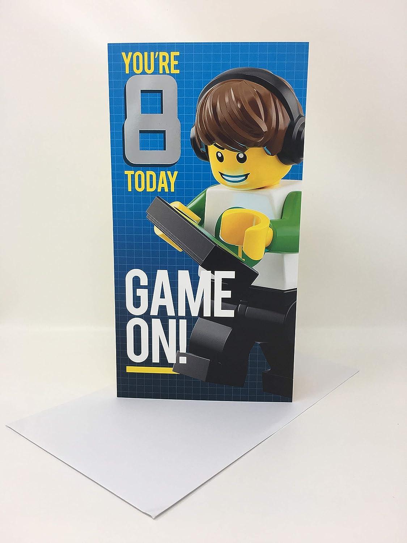 Edad 8 niño Game ON! Hallmark para cumpleaños de Lego ...