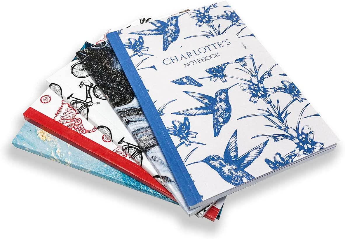 Blue Spots Personalised Notebook by Paper Themes Crafted from 60 Pages of The Highest Quality Buckingham A4 Paper