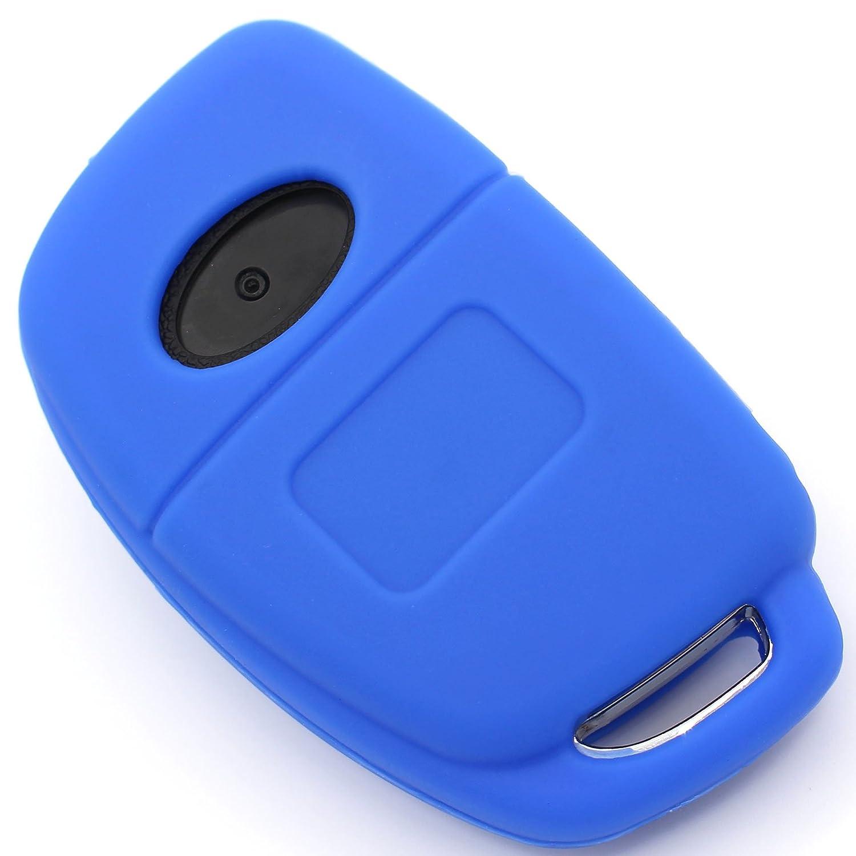 Finest-Folia Cover per chiave dell/'auto in silicone a 3 tasti Azzurro