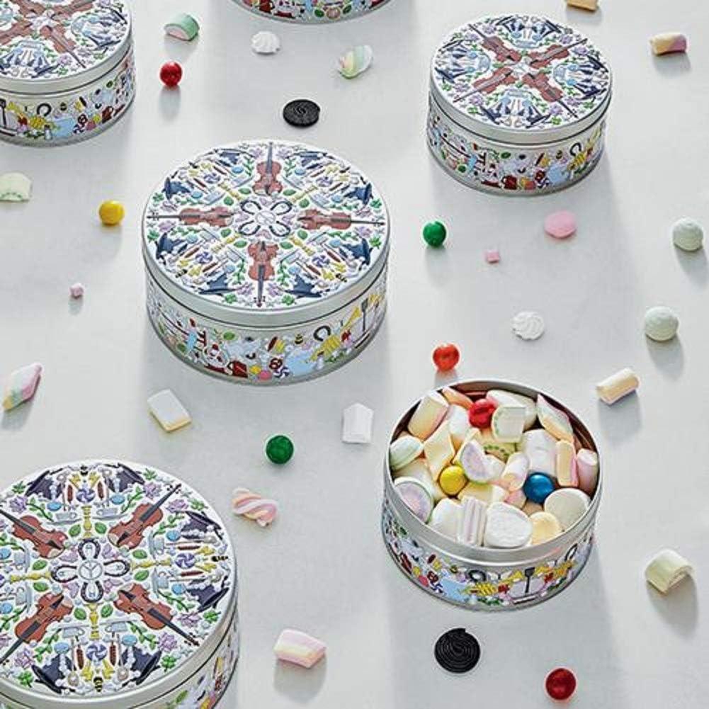 Alessi Garybaldi Tin Cajas portaobjetos de dise/ño en hojalata con decoro Multicolor /única Set de 2