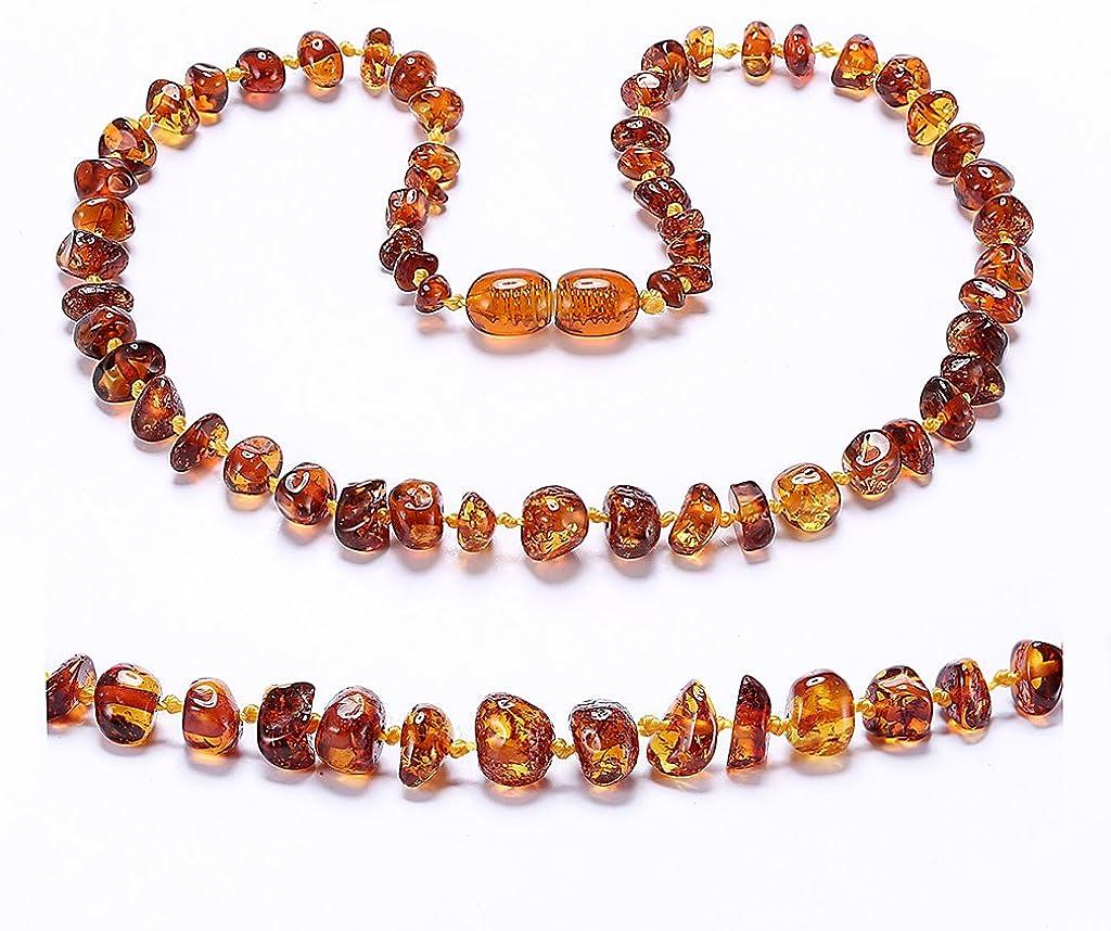 ZHAOXIA Collar de ámbar ámbar báltico - 3 tamaños - 5 Colores