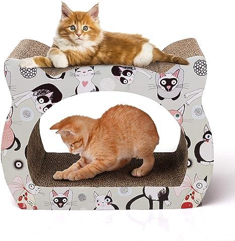 Nobleza - Rascador para Gatos de cartón. Soporte de Descanso con ...