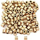 Argent Laiton Plaqué Barrel Crimp Beads 2 mm HA02253 Paquet 850