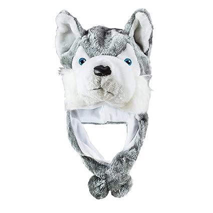 XCSSKG Wolf - Gorro de Peluche para Invierno, diseño de Lobo