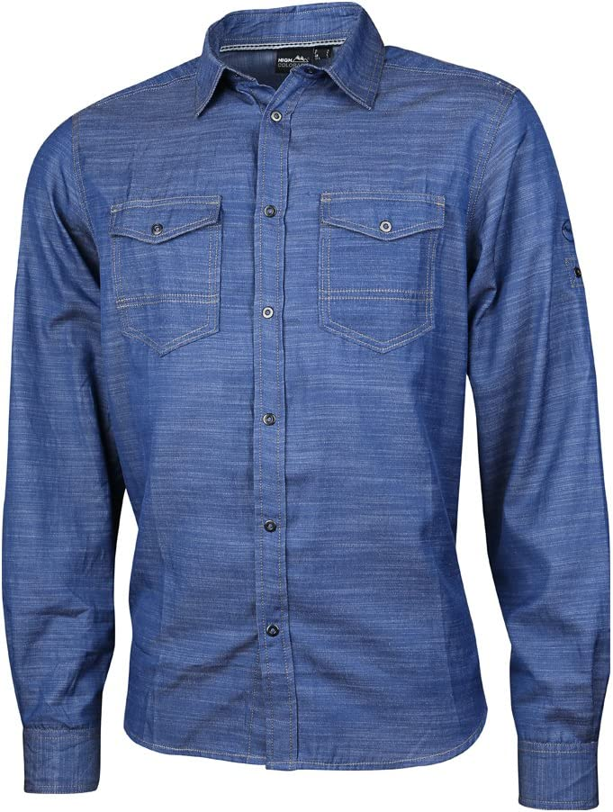 High Colorado Taormina Roll-up Camisa Hombre Dark Denim 2018 Manga Larga, Color Azul, tamaño Large: Amazon.es: Deportes y aire libre