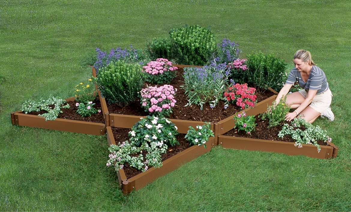 Frame It All Two Inch Series Composite Star Raised Garden Bed, 144'' x 144'' x 11''