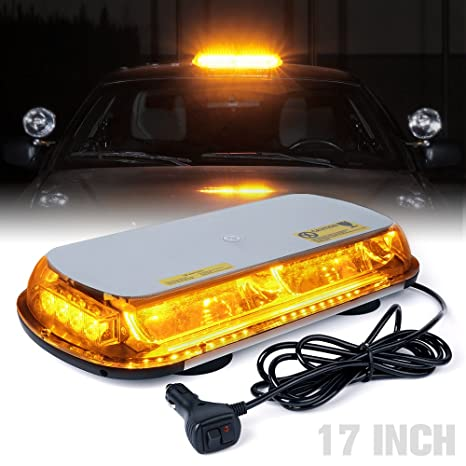 Xprite 44 LED 17 Inch High Intensity Law Enforcement Emergency Hazard  Warning Flashing Car Truck Construction Roof Top LED Mini Bar Strobe Light  with