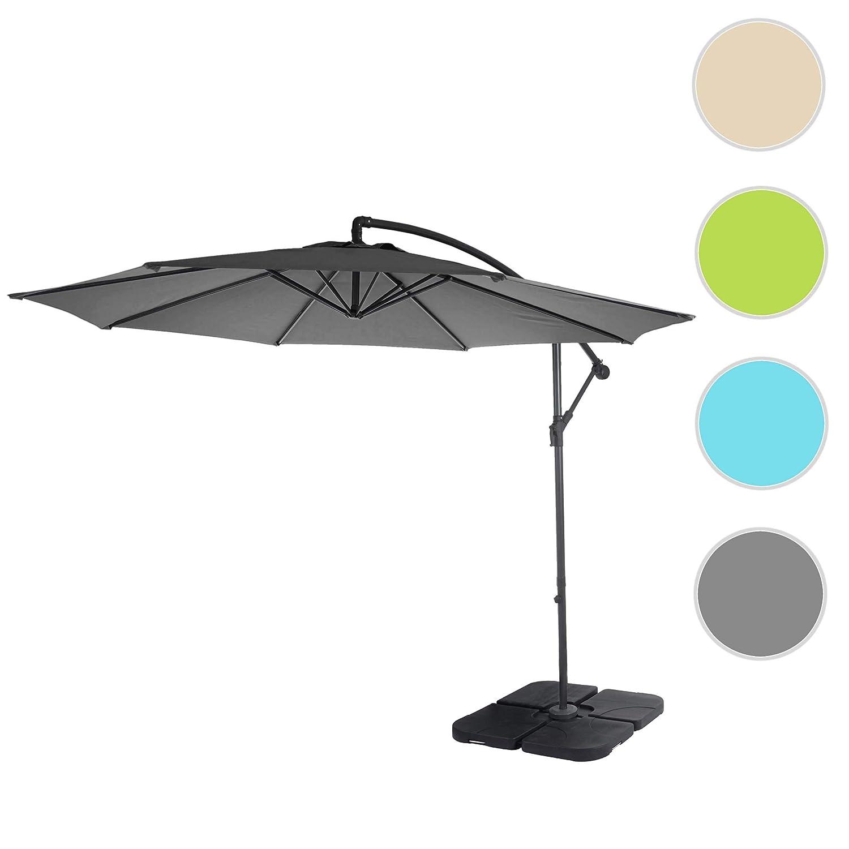 Parasol d/éport/é Semi-Pro Acerra 3m inclinable ~ cr/ème sans Support Protection Contre Le Soleil