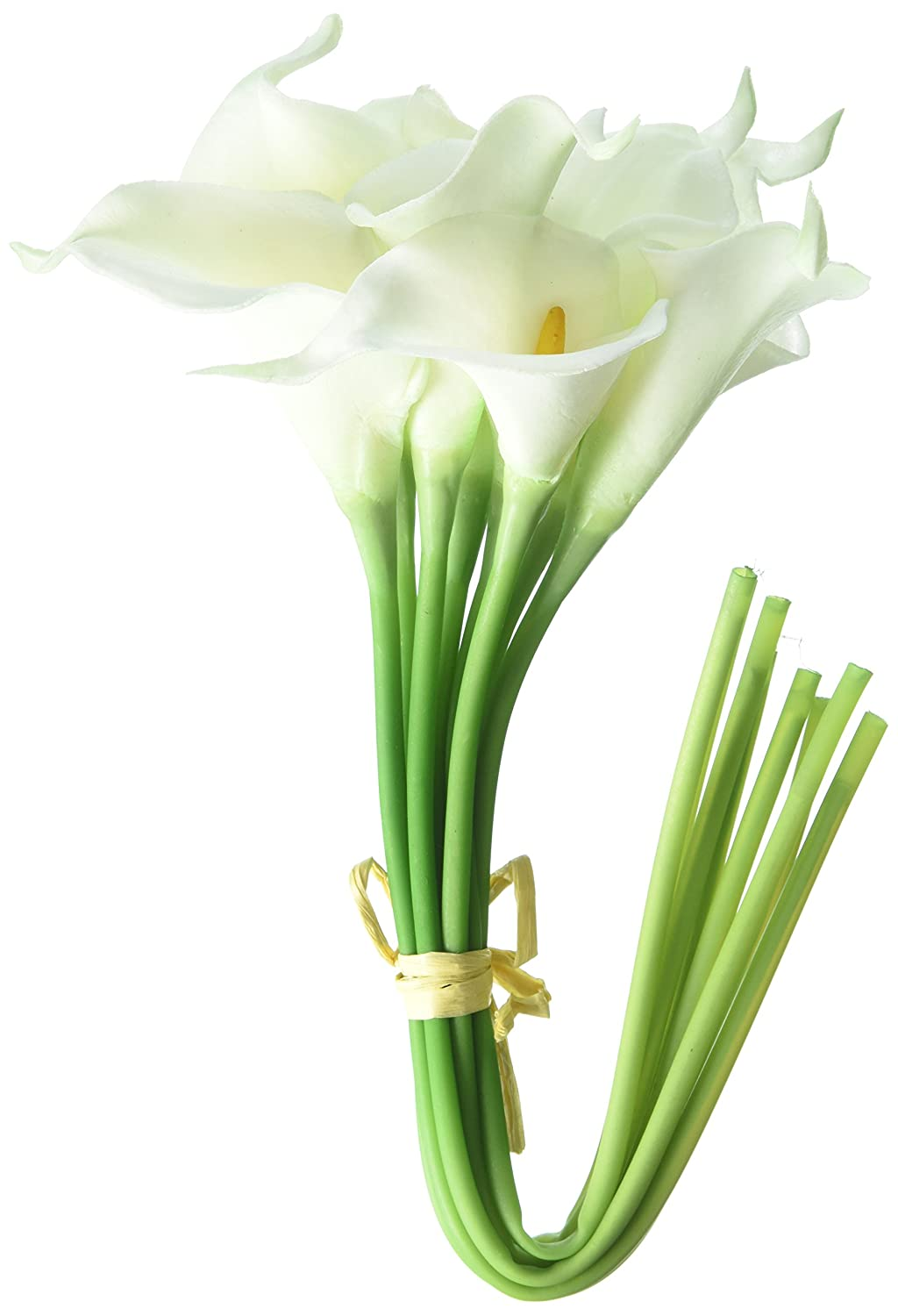 Amazon calla lily bridal wedding bouquet 20 head latex real amazon calla lily bridal wedding bouquet 20 head latex real touch flower bouquets kc51 white home kitchen izmirmasajfo