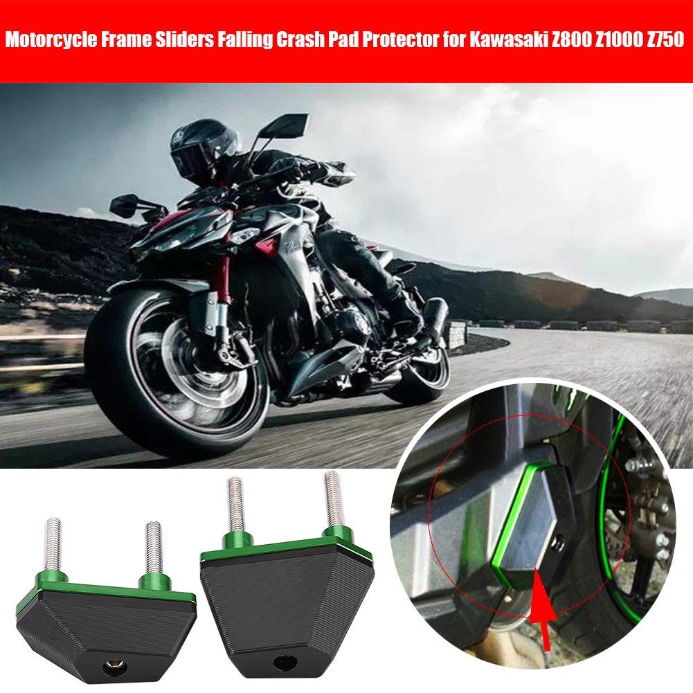 Qiilu 1 par de deslizadores de marco de motocicleta para Kawasaki Z800 Z1000 Z750: Amazon.es: Coche y moto