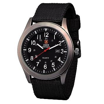 zeiger military mens watches analogue quartz date watch for man zeiger military mens watches analogue quartz date watch for man black nylon band sport wristwatch