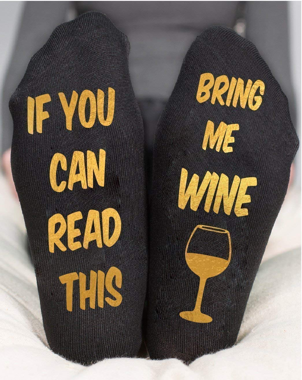 Bring Me Wine Socks Funny Birthday Party Gift For Women's