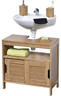 EVIDECO Non Pedestal Under Sink Storage Vanity Cabinet MAHE Bamboo