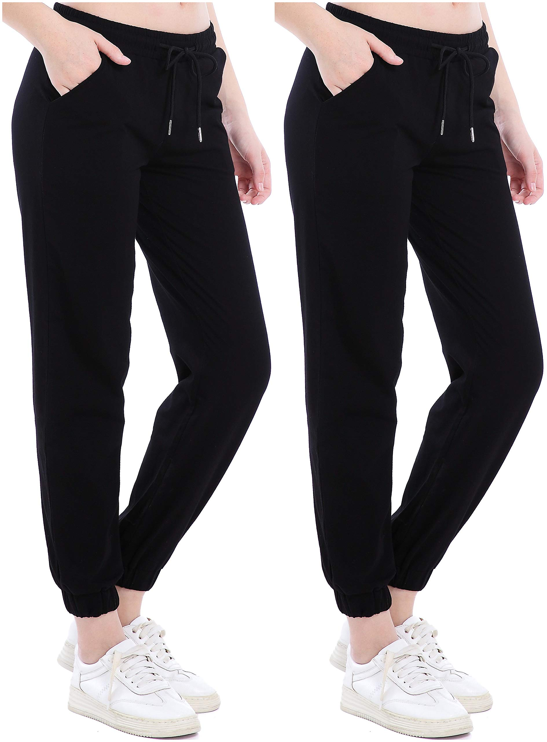 Ferrieswheel Story Thin Stretch Jogger Pants Fitness Light Cotton Sweatpants Women with Pockets