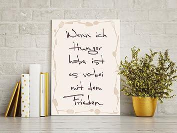 GRAZDesign Wandbilder Küche Motiv - Kunstdruck Weinn ich Hunger Habe ...
