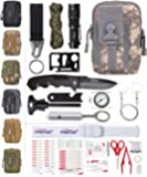 ETROL 22-in-1 Emergency Survival Kit & First Aid Kit, Upgraded Portable Tactical Molle Pouch for Camping, Earthquake…
