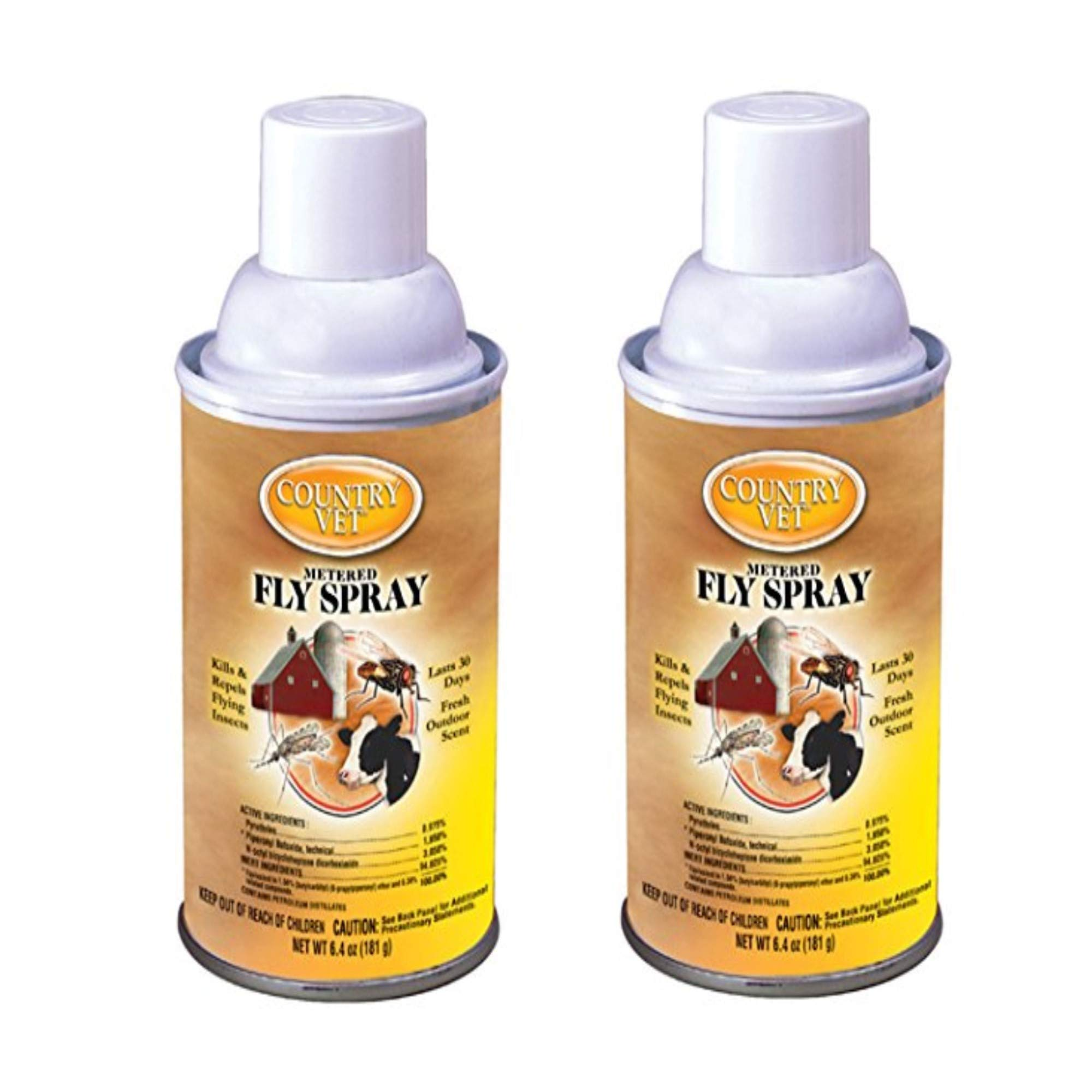 Zep Enforcer 34-2050CVA Country Vet Metered Fly Control Spray, Refill, 30 Day Supply, Brown/A - 2 Pack