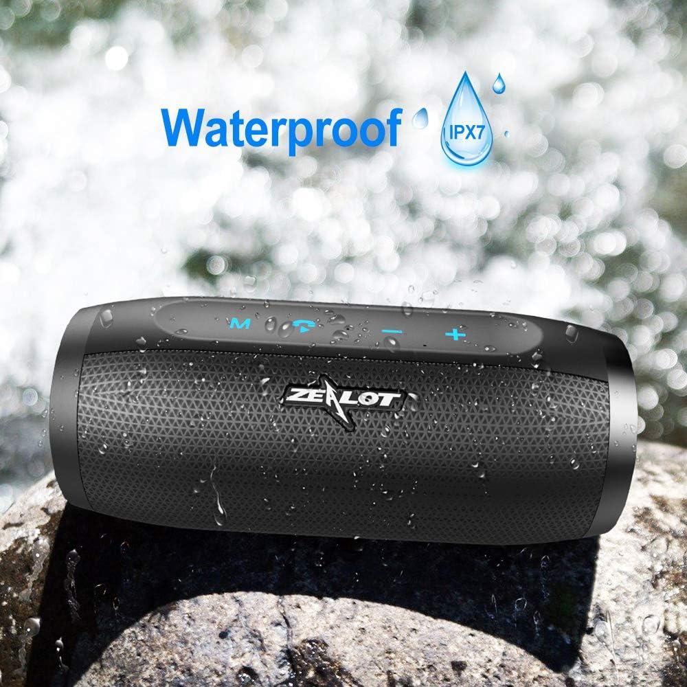 ZEALOT S16 Altavoz Bluetooth 20W,Altavoz Port/átil Bluetooth 5.0,Impermeable IPX7 con Powerbank,24 Horas de Reproducci/ón Sonido est/éreo HD,Construido en Micr/ófono,Altavoces Inal/ámbrico