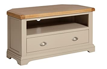Dorset Oak Console Table Solid 2 Drawer Pine in Painted French Grey Living Dining Room Furniture