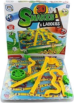 3d Snakes and Escaleras infantil juego de Mesa Tradicional Familia ...