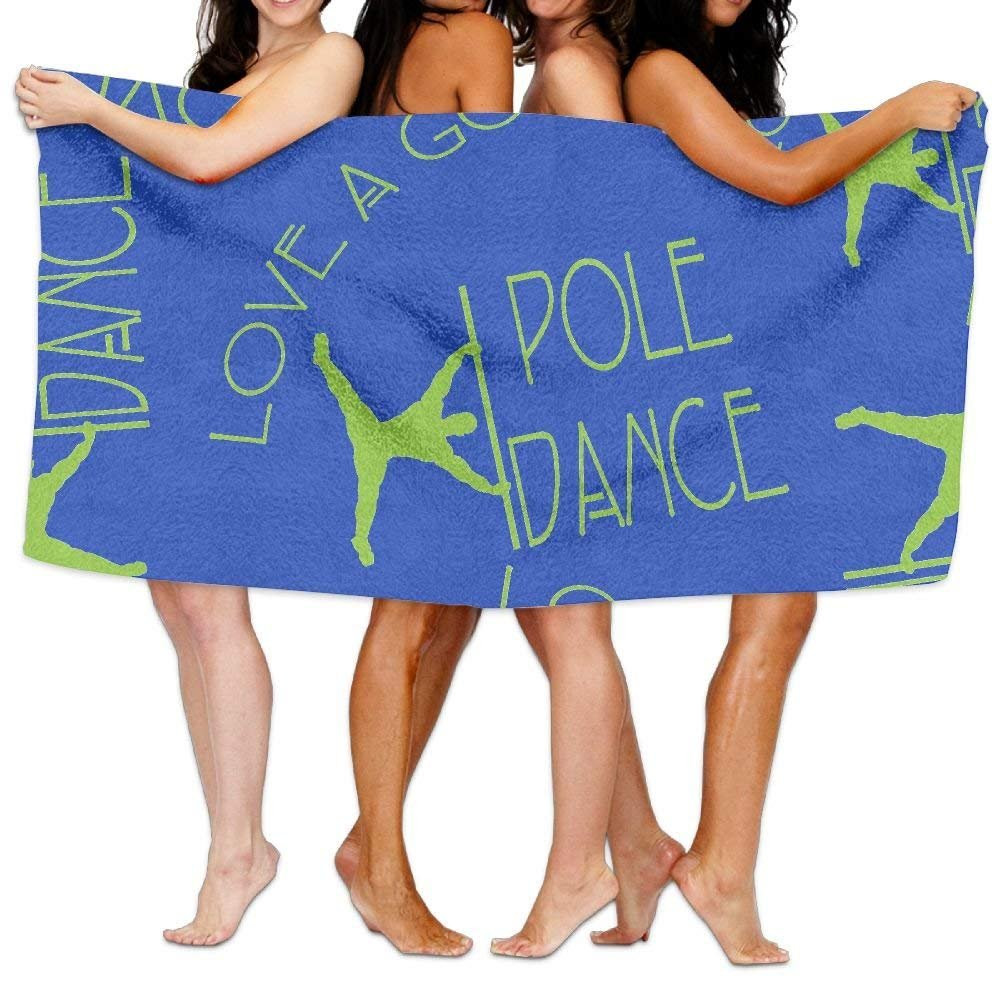 HuaXuAgr Love A Good Pole Dance 100% Cotton Premium Quality Bath Towels Absorbent Soft Towels