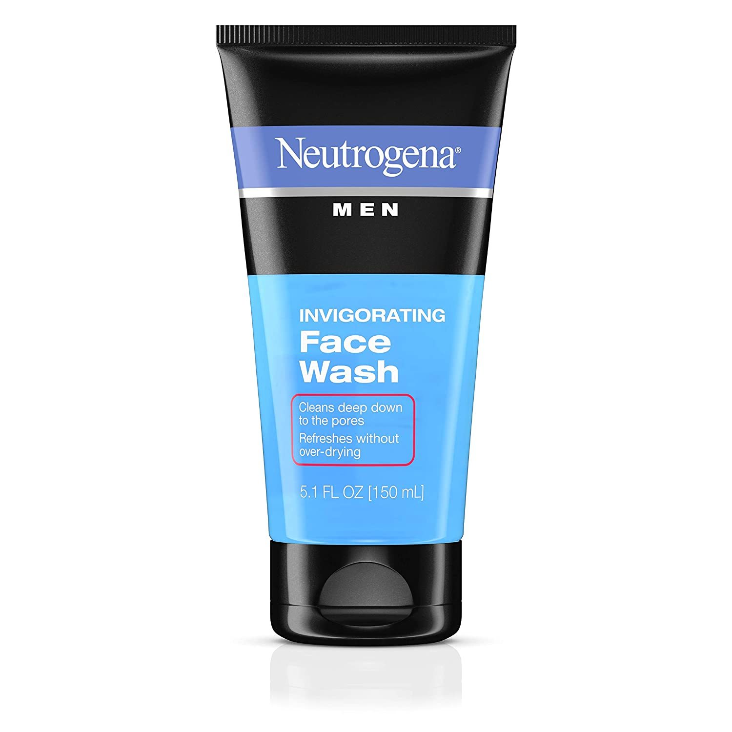 Neutrogena Men's Invigorating Daily Foaming Gel Face Wash, Energizing & Refreshing Oil-Free Facial Cleanser for Men, 5.1 fl. oz