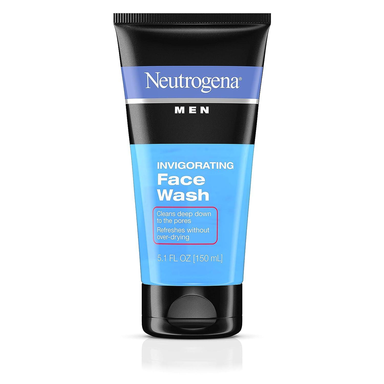 Neutrogena Men's Invigorating Daily Foaming Gel Face Wash, Energizing & Refreshing Oil-Free Facial Cleanser for Men, 5.1 fl. oz