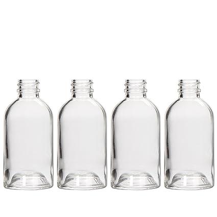 Hosley - Botellas redondas de cristal con difusor - 85 ml - estilo redondo BostonIdeal para