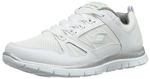 01f0ce598e0a Skechers Womens Flex Appeal Spring Fever Trainers  Amazon.co.uk ...