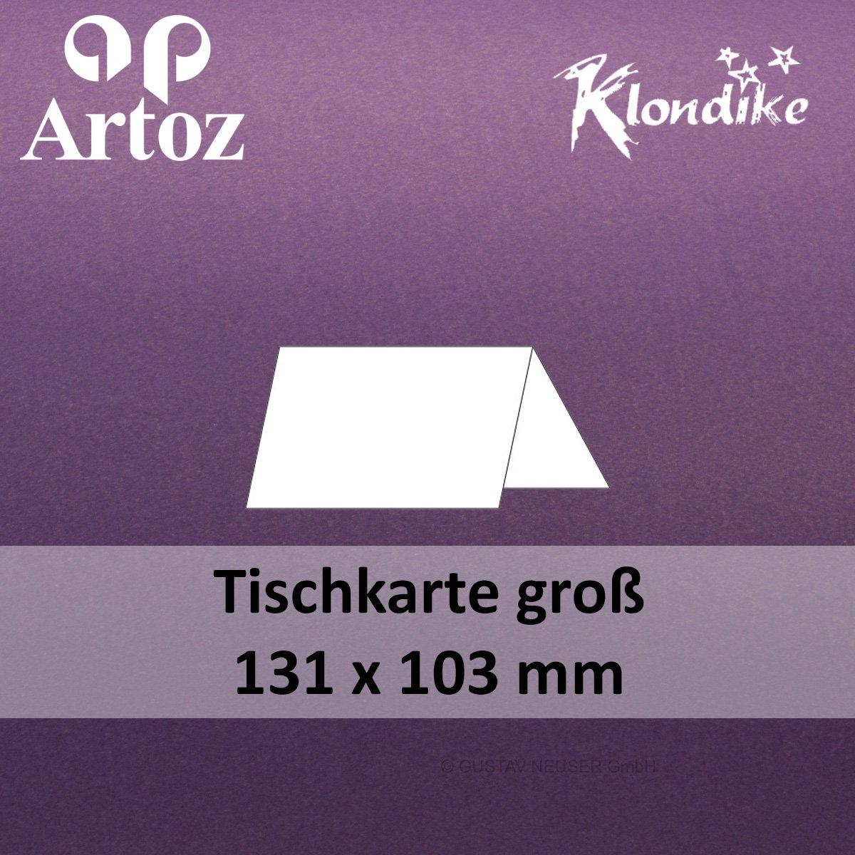 100 Stk.    Artoz Klondike glänzende Tischkarten groß    amethyst - lila    131 x 103 mm    metallisch - Edelstein Glanz B013UMBWS8 | Ästhetisches Aussehen