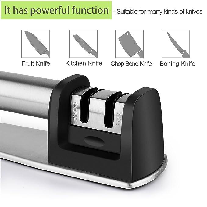 Herramienta afiladora de cuchillos y tijeras, 4 en 1, cuchillos afilados como nuevos en 5 segundos