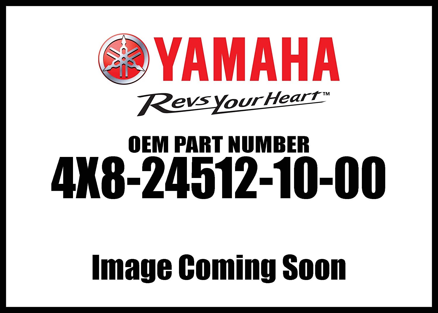 Yamaha 4X8-24512-10-00 O-Ring; 4X8245121000 Made by Yamaha