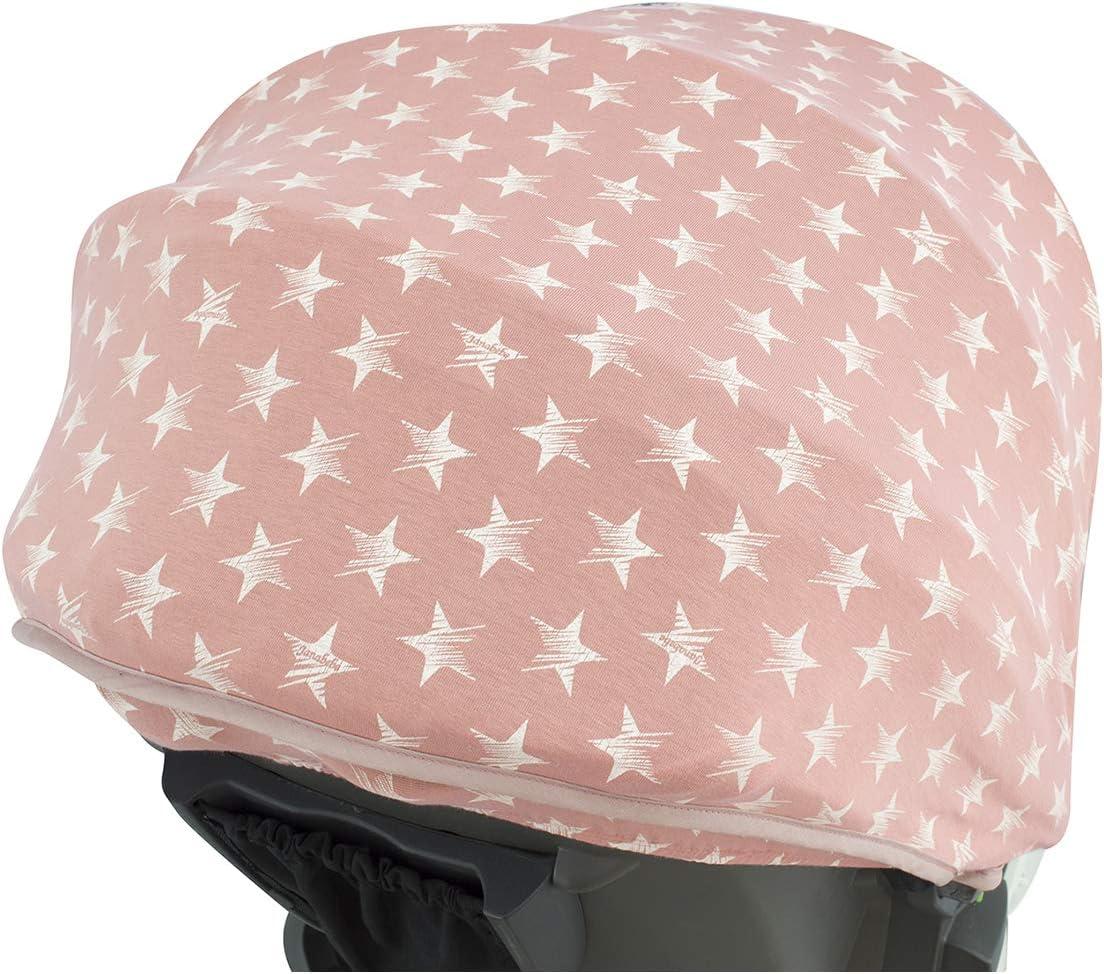 JANABEBE Cubre capota para Coche Stokke Xplori y crusi PINK STAR