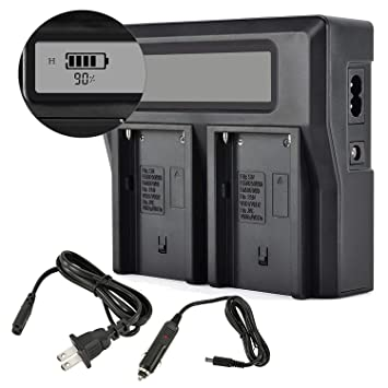 Amazon.com: Foto Master NP-F970 LCD Dual Cargador de batería ...