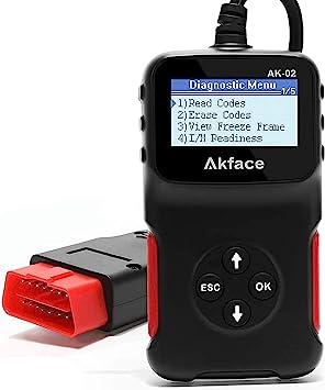 Akface Obd2 Diagnosegerät Auto Kabel Fehlercodeleser Kfz Auslesegerät Diagnose Scanner Für Obdii Protokoll Auto Fahrzeuge Zum Auslesen Löschen Von Fehlercodes Auto