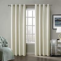ChadMade Blackout Lined Premium Velvet Curtain Eyelet Grommet for Livingroom Bedroom Theater Studio, Birkin Collection