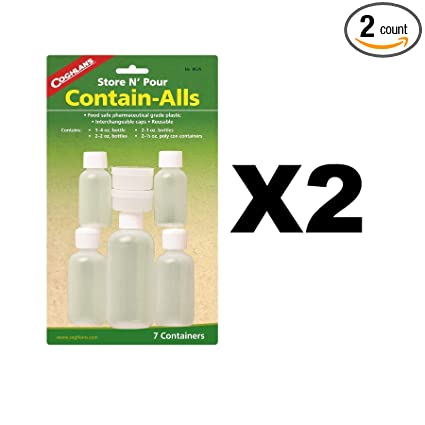 dcef607a46 Image Unavailable. Image not available for. Color: Coghlans 8525 Store & Pour  Contain-Alls Plastic Containers