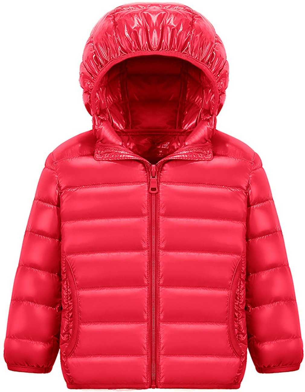 Wenseny Boys Girls Coat Lightweight Winter Down Jacket Hoodie Puffer Outwear ace001