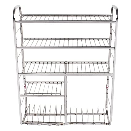Buy Lakshya Enterprises Stainless Steel Kitchen Rack Size 31 24 Inch Online At Low Prices In India Amazon In