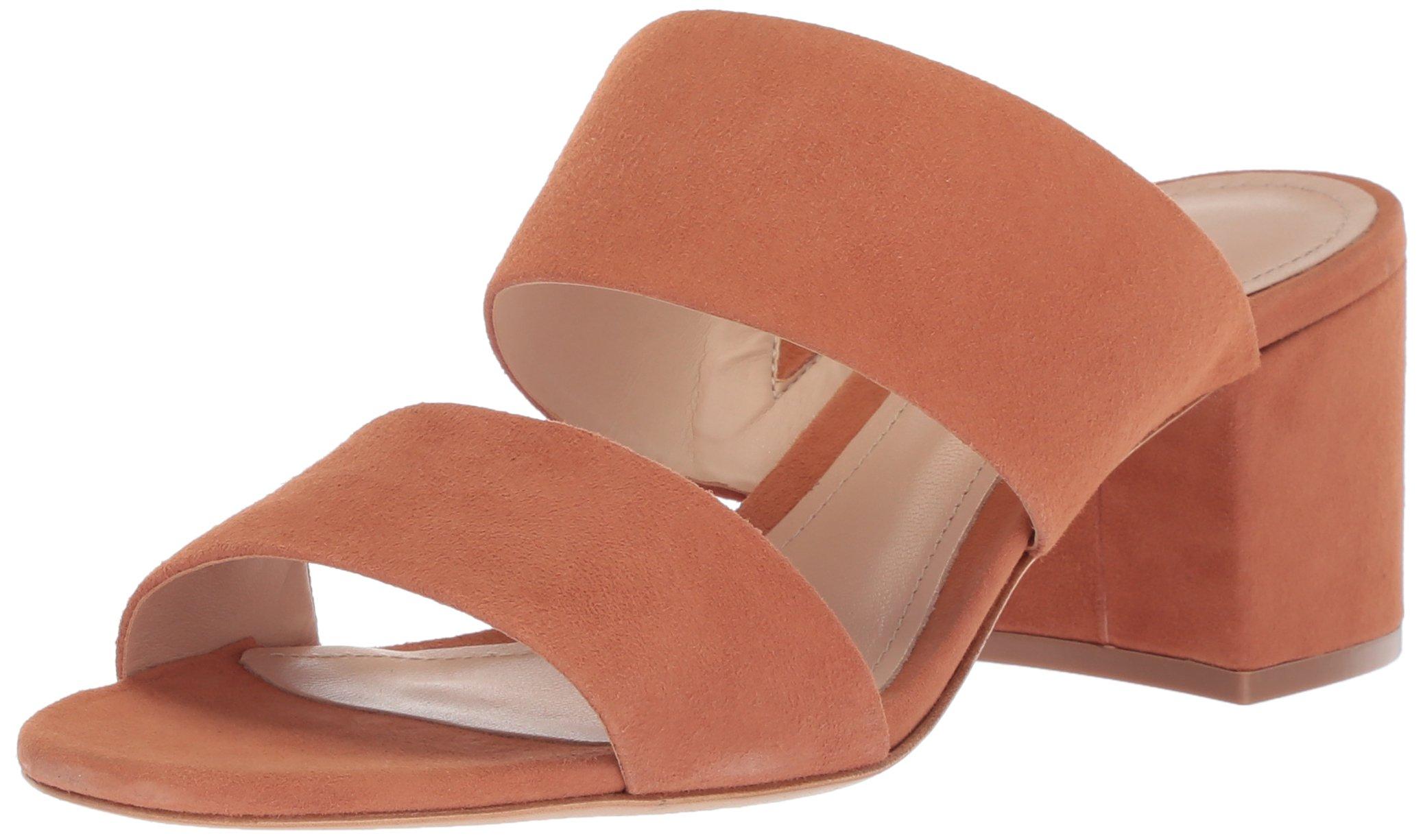 SCHUTZ Women's Rashne Heeled Sandal, Toasted Nut, 7 M US