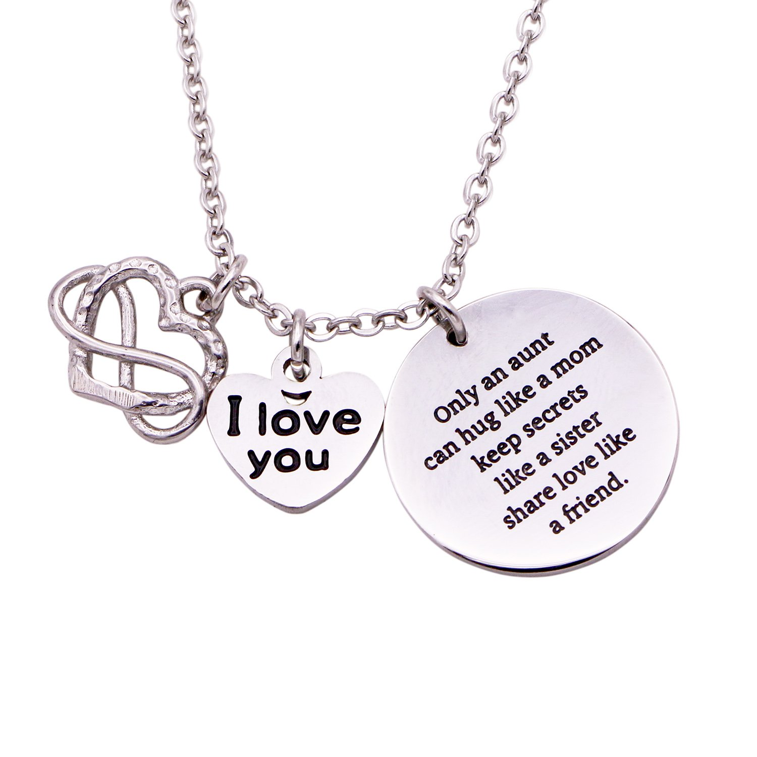 aunt personalized pin auntie necklace best
